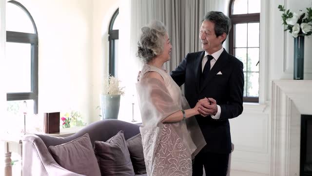 loving senior couple,4k - necktie stock videos & royalty-free footage