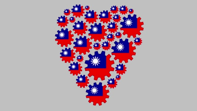 loving taiwan - taiwanese flag stock videos & royalty-free footage