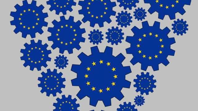 stockvideo's en b-roll-footage met loving de europese gemeenschap - groep objecten