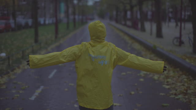 loving the rain and nature - waterproof clothing stock videos & royalty-free footage