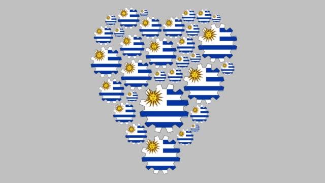 loving uruguay - uruguaian flag stock videos & royalty-free footage