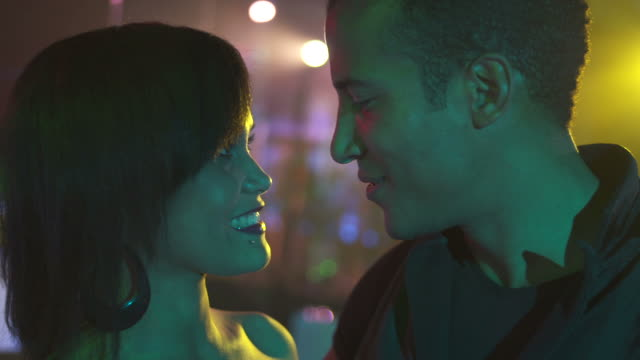 HD: Loving Young Couple At Nightclub