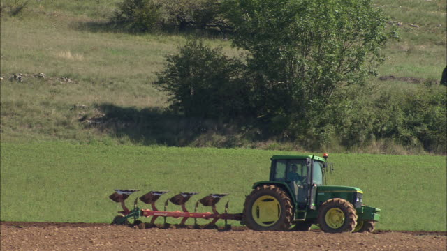 Low Alongside Tractor Ploughing