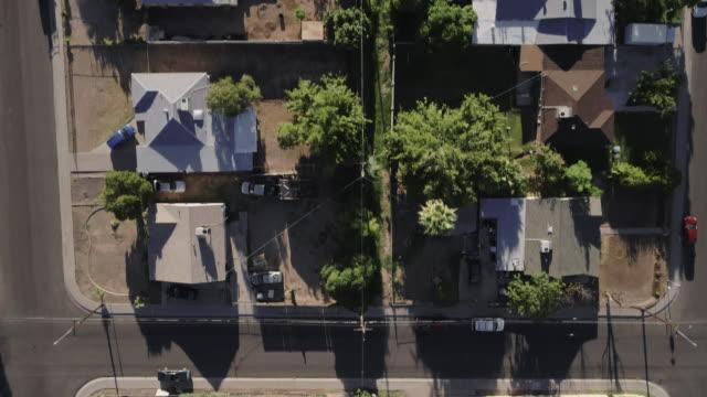 Low altitude flight over residential neighborhood
