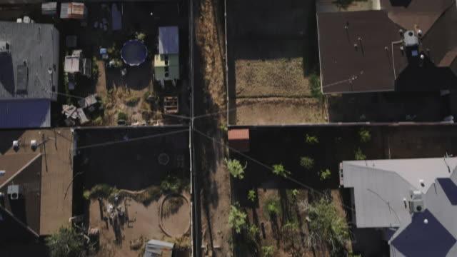 Low altitude over low income neighborhood and freeway