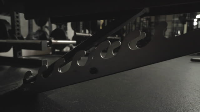 Low angle close up of fitness bench