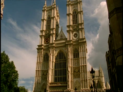 Low angle Facade of Westminster Abbey, London