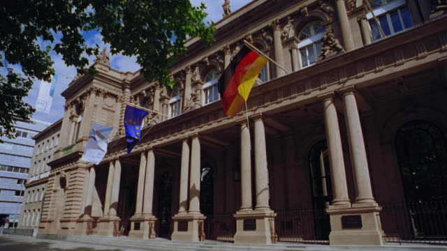low angle frankfurt stock exchange building / frankfurt, germany - frankfurt stock exchange stock videos and b-roll footage