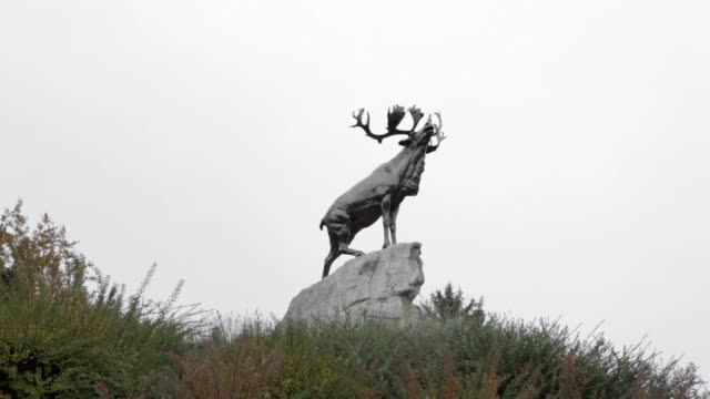 Low Angle Long Shot deer sculpture The Newfoundland Memorial Park is a site on the Somme battlefield near to Beaumont Hamel which was named after the...