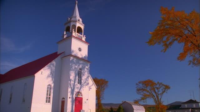 Low angle medium shot church / New Hampshire