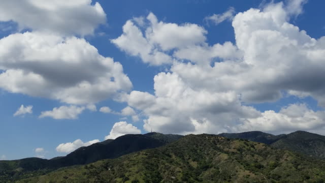 low angle of the verdugo mountains from glendale tl - microwave tower stock videos & royalty-free footage