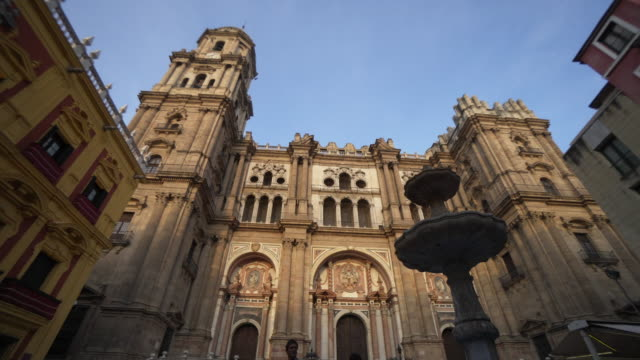 Low angle, scenic cathedral in Spain