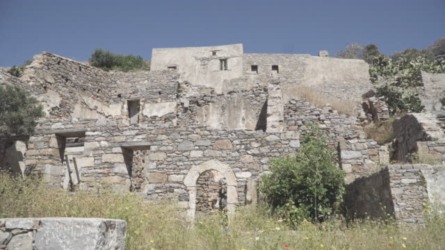 low angle, scenic ruins in crete - imperfection stock videos & royalty-free footage
