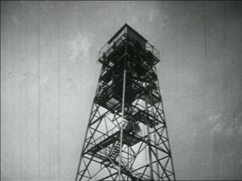 b/w 1956 low angle steel-frame microwave tower - microwave tower stock videos and b-roll footage