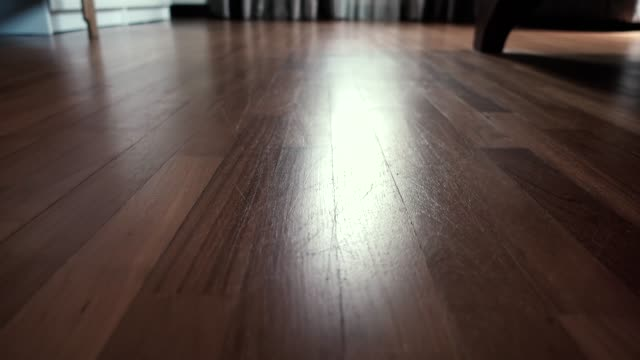 low angle surface level view of hardwood floor - low angle view stock videos & royalty-free footage