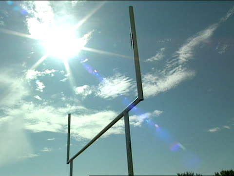 low angle - football goal post stock videos and b-roll footage