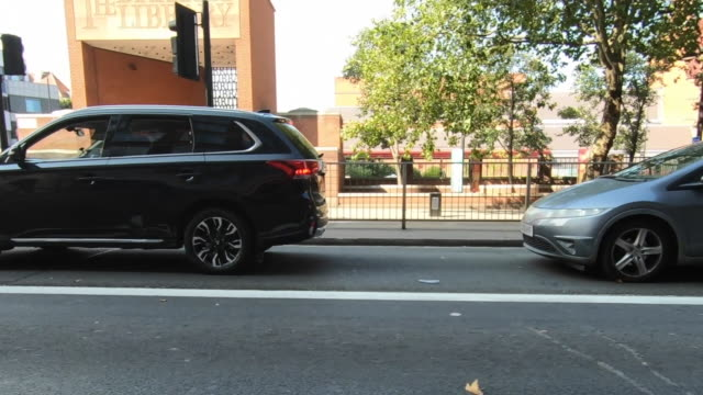 low angle view from a bike riding through london - road marking stock videos & royalty-free footage