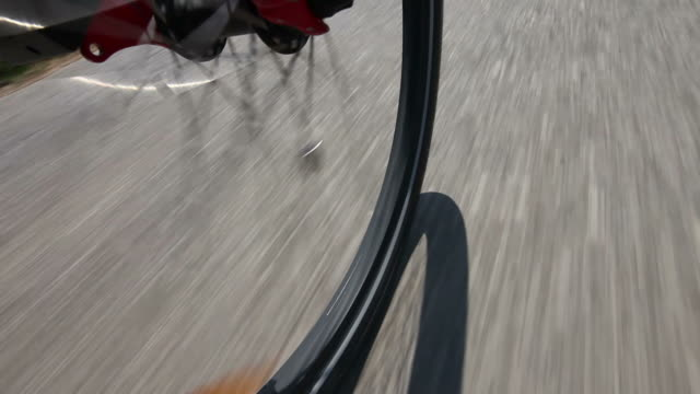 hd: low angle view from mountain bike - asphalt stock videos and b-roll footage