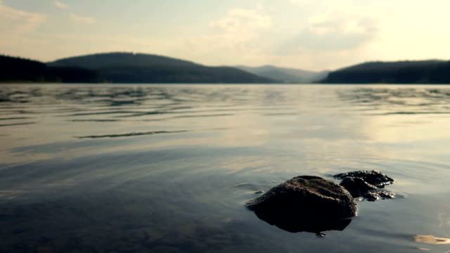 low angle view of a lake in slow motion - stock video - lake stock videos & royalty-free footage
