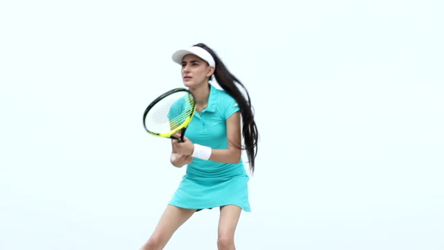 Low angle view of a tennis player, Delhi, India
