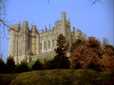 wa low angle view of arundel castle, sussex - arundel castle stock videos & royalty-free footage