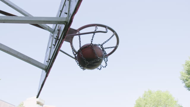 low angle view of basketball player scoring goal - shooting baskets stock videos & royalty-free footage