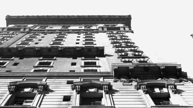low angle view of building against sky, new york city, new york state, usa - 1945 stock videos & royalty-free footage