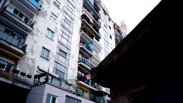 low angle view of buildings - facciata video stock e b–roll