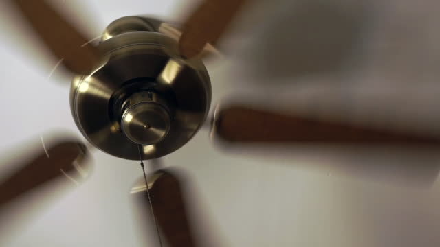 low angle view of ceiling fan spinning - ceiling fan stock videos & royalty-free footage