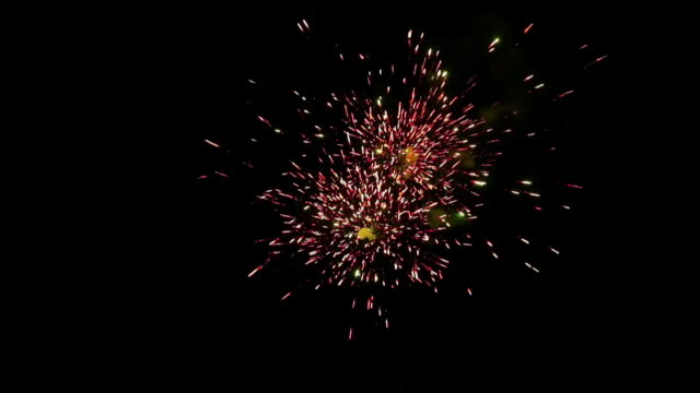 Low angle view of fireworks in diwali festival