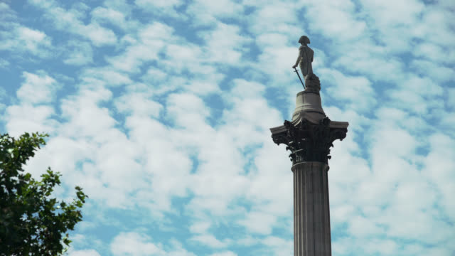 low angle view of nelson's column - male likeness stock videos & royalty-free footage