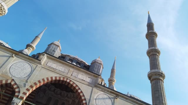 low angle view of selimiye mosque, edirne, turkey - 16th century stock videos & royalty-free footage