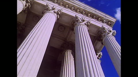 low angle view of washington d.c. supreme court;1972 - 1972 stock videos & royalty-free footage