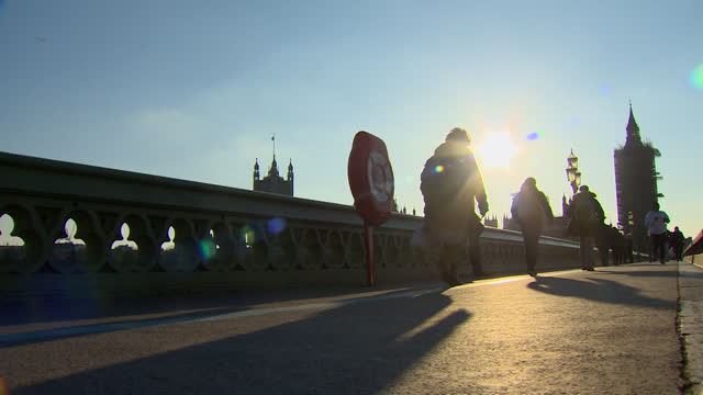 low angle view of westminster bridge - low angle view stock videos & royalty-free footage