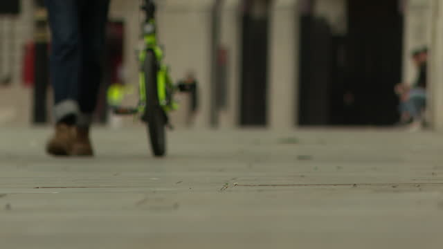 low angle views of pedestrians in london - low section stock videos & royalty-free footage