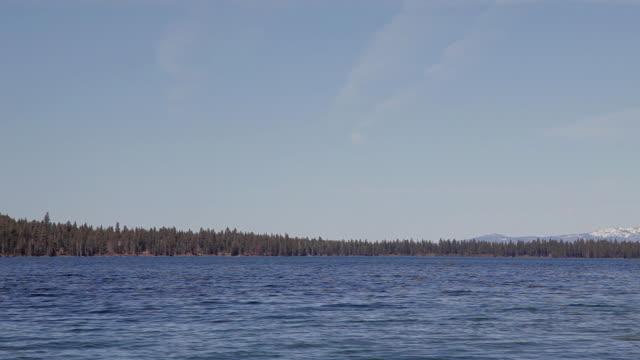 Low Angle Wide Shot of Lake Tahoe