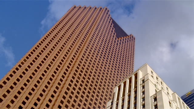 low angle wide shot scotia plaza and bank of nova scotia building in financial district / toronto - kelly mason videos stock-videos und b-roll-filmmaterial