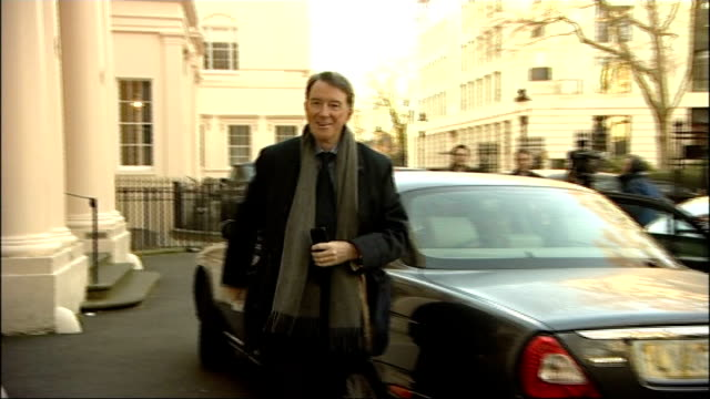 low carbon economy summit; england: london: ext lord mandelson out of car on arrival at low carbon economy summit as approached by leila deen who... - custard stock videos & royalty-free footage