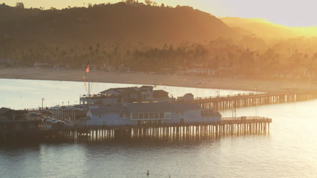 Low Drone Flight Around Stearns Wharf, Santa Barbara