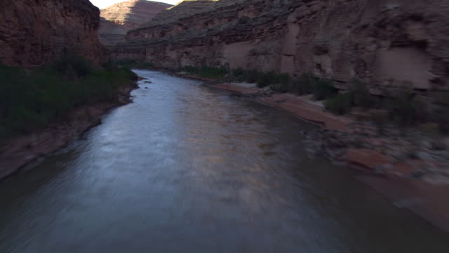 Low flight and pull-out above San Juan River