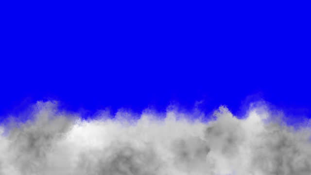 low floating clouds on a blue background. - execution stock videos & royalty-free footage