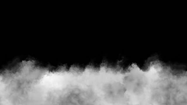 low floating clouds on a transparent background. - smoking stock videos & royalty-free footage
