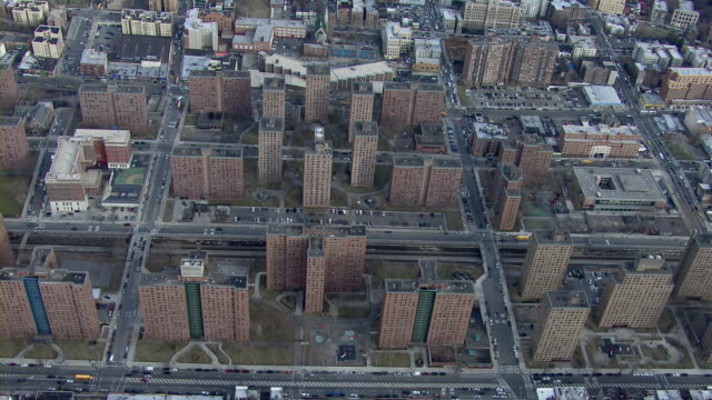 Low income public housing in the Bronx, New York City, USA.