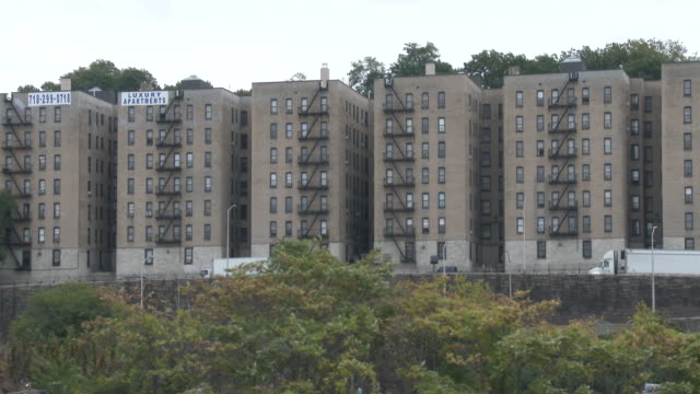 low income public housing projects - south bronx nyc - bronx new york stock videos and b-roll footage