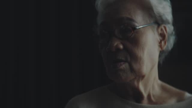 low key , elderly portrait - unhealthy living stock videos & royalty-free footage