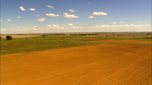 Low Over Fields  - Aerial View - Orange Free State,  Lejweleputswa District Municipality,  Matjhabeng,  South Africa
