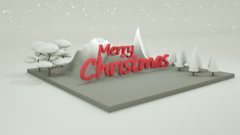 落ちる雪と低ポリクリスマステキスト、クリスマスホリデーストックビデオ - 投影図点の映像素材/bロール
