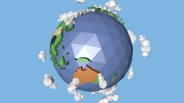 a 360 low poly earth loop - cartography stock videos & royalty-free footage
