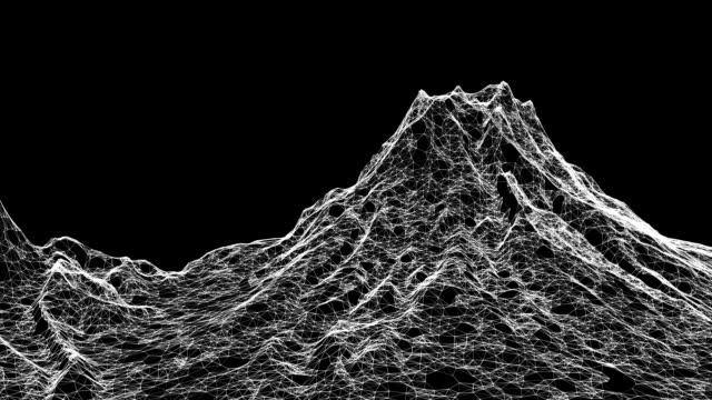 Low-Poly-Mountain-Modell