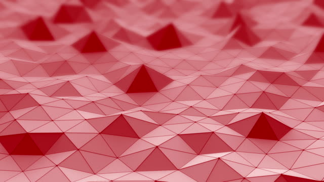 Low poly moving surface